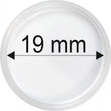 Plastové kapsle na mince o průměru 19 mm - 10 ks