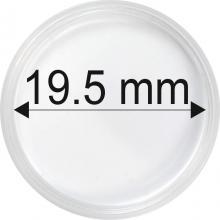 Plastové kapsule na mince o priemere 19,5 mm - 10 ks