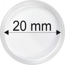 Plastové kapsule na mince o priemere 20 mm - 10 ks