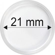 Plastové kapsle na mince o průměru 21 mm - 10 ks