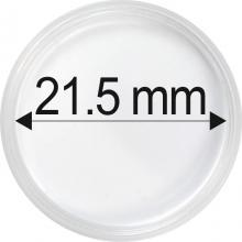 Plastové kapsule na mince o priemere 21,5 mm - 10 ks