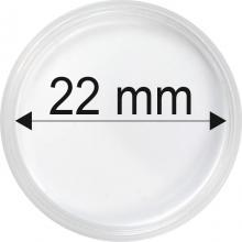 Plastové kapsle na mince o průměru 22 mm - 10 ks