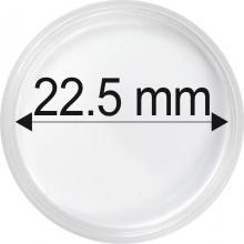 Plastové kapsle na mince o průměru 22,5 mm - 10 ks