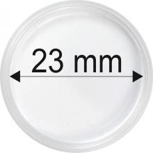 Plastové kapsle na mince o průměru 23 mm - 10 ks