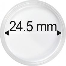 Plastové kapsule na mince o priemere 24,5 mm - 10 ks