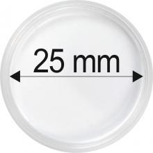 Plastové kapsule na mince o priemere 25 mm - 10 ks