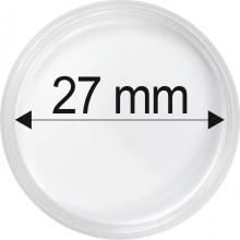Plastové kapsle na mince o průměru 27 mm - 10 ks