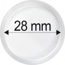 Plastové kapsle na mince o průměru 28 mm - 10 ks