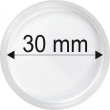 Plastové kapsule na mince o priemere 30 mm - 10 ks