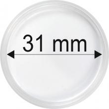 Plastové kapsle na mince o průměru 31 mm - 10 ks