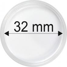 Plastové kapsle na mince o průměru 32 mm - 10 ks