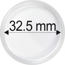 Plastové kapsle na mince o průměru 32,5 mm - 10 ks
