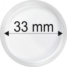 Plastové kapsle na mince o průměru 33 mm - 10 ks