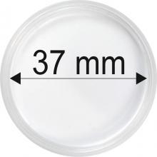 Plastové kapsle na mince o průměru 37 mm - 10 ks