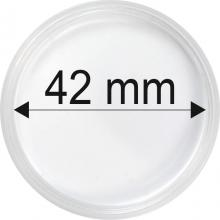 Plastové kapsle na mince o průměru 42 mm - 10 ks