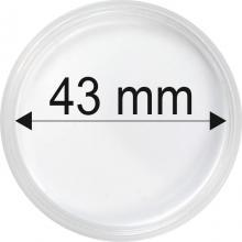 Plastové kapsle na mince o průměru 43 mm - 10 ks