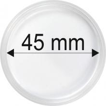 Plastové kapsle na mince o průměru 45 mm - 10 ks