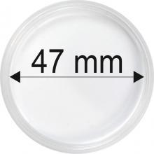Plastové kapsle na mince o průměru 47 mm - 10 ks