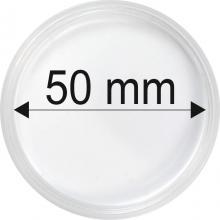 Plastové kapsule na mince o priemere 50 mm - 10 ks