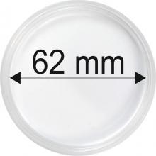 Plastové kapsule na mince o priemere 62 mm - 10 ks