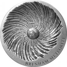 Stříbrná mince 5 Oz Brenham Meteorite Art 2016 Antique Standard