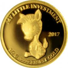 Zlatá mince My little investment - Zebra 2017 Proof