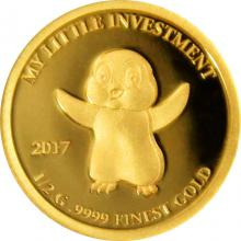 Zlatá mince My little investment - Tučňák 2017 Proof