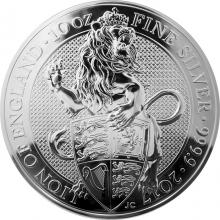 Stříbrná investiční mince The Queen's Beasts The Lion 10 Oz 2017