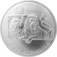 Stříbrná desetiuncová investiční mince Český lev 2017 Standard