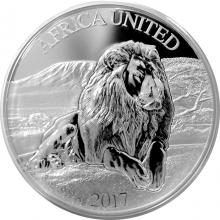 Stříbrná mince 3 Oz Lev United Africa 2017 Proof