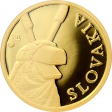 Zlatá investiční mince Maska z regionu Slovensko - Heľpa 1/10 Oz 2015
