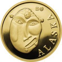 Zlatá investiční mince Maska z regionu Aljaška - Yup'ik 1/10 Oz 2015