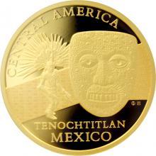 Zlatá investičná minca Maska z regionu Mexiko - Tenochtitlan 1 Oz 2015