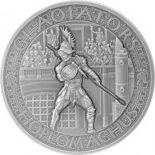 Stříbrná mince Gladiators 2 Oz Hoplomachus 2017 Antique Standard