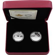 Sada stříbrných mincí 30. výročí Loonie 2017 Proof