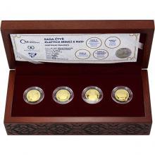 Sada čtyř zlatých mincí 5 NZD 700. výročí narození Karla IV. 2016 Proof