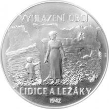 Stříbrná kilogramová mince Lidice a Ležáky 2017 Standard