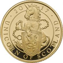 Zlatá mince Unicorn of Scotland 1/4 Oz 2017 Proof