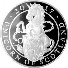 Stříbrná mince Unicorn of Scotland 5 Oz 2017 Proof