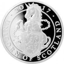 Stříbrná mince Unicorn of Scotland 1 Oz 2017 Proof
