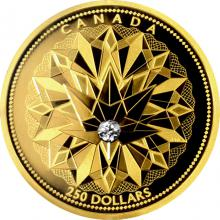 Zlatá mince Kanadský diamant 2017 Proof