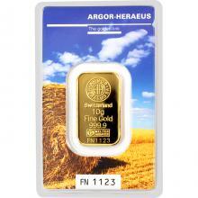 10g Argor Heraeus Following Nature - Léto 2017 investiční zlatý slitek