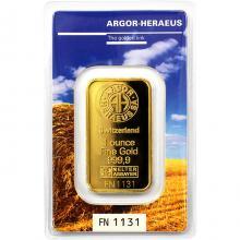31,1g Argor Heraeus Following Nature - Léto 2017 investiční zlatý slitek