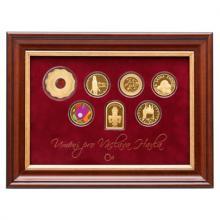 Sada sedmi zlatých medailí Umění pro Václava Havla 2017 Proof
