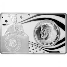 Stříbrná mince John F. Kennedy 100. výročí Exkluzivní edice 2017 Proof