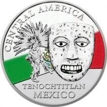 Stříbrná investiční mince Maska z regionu Mexiko - Tenochtitlan 1 Oz 2015