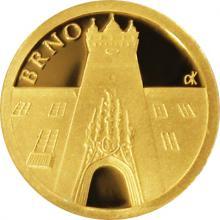 Zlatá mince Brno - Stará radnice 2017 Proof