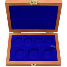 Drevená krabička 6 x Ag ČR 36 mm plus 1 x 45 mm