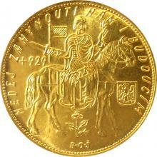 Zlatá mince Svatý Václav Pětidukát Československý 1936