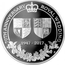 Stříbrná mince 1 Oz Královská svatba 70. výročí 2017 Proof